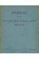 Journal of the English Folk Dance & Song Society : Vol VII No 2 - Dec 1953