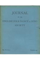 Journal of the English Folk Dance & Song Society : Vol VII No 3 - Dec 1954