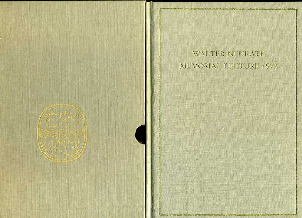 DANIEL, GLYN - Megaliths in History : Walter Neurath Memorial Lecture 1972 : Presentation Copy in Slip Case