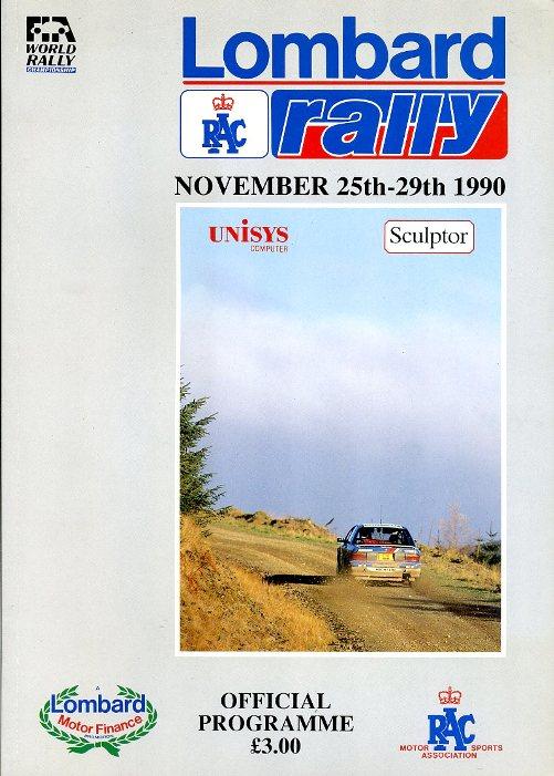 WILSON, COLIN (EDITOR) - Lombard RAC Rally 1990 Official Programme